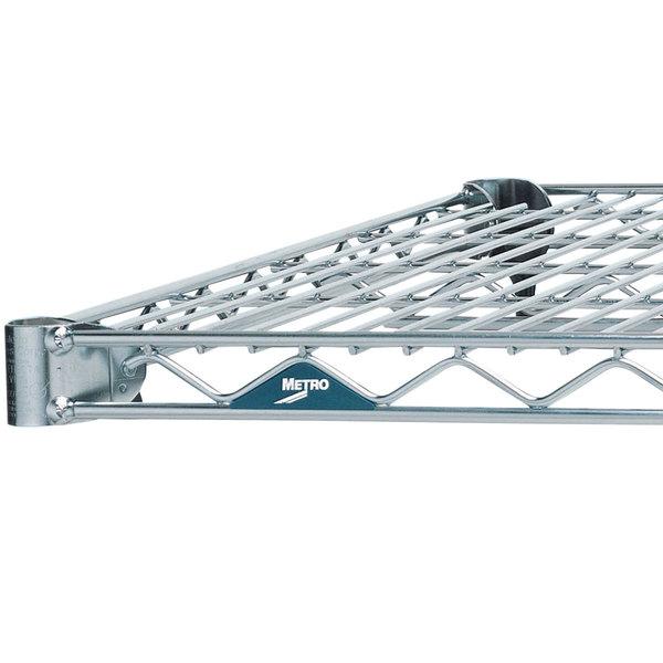 "Metro 1472NS Super Erecta Stainless Steel Wire Shelf - 14"" x 72"" Main Image 1"