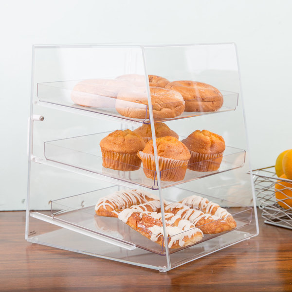 "Cal-Mil P257 Classic Three Tier Acrylic Display Case - 10"" x 15"" x 13 1/2"""