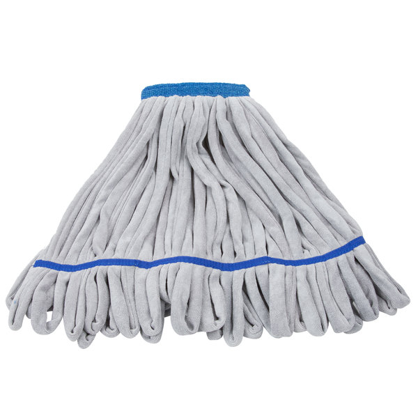 Unger ST45B SmartColor RoughMop 16 oz. Blue Heavy Duty Microfiber String Mop Head with 4 1/2 inch Band