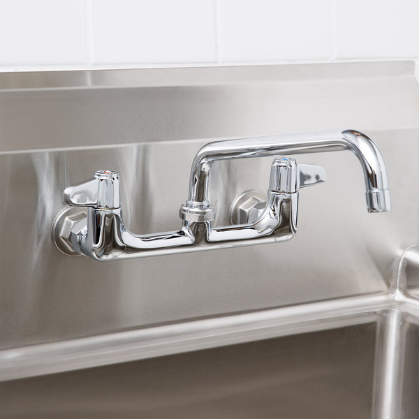 """Equip by T&S 5F-8WLX10 Wall Mount Swivel Base Mixing Faucet with 10"""" Swing Nozzle 8"""" Centers ADA Compliant"""