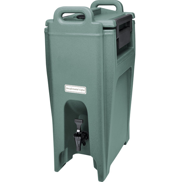 Cambro UC500401 Ultra Camtainer 5.25 Gallon Slate Blue Insulated Beverage Dispenser