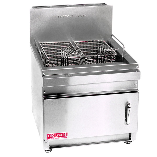 Cecilware GF-28 Natural Gas 28 lb. Countertop Fryer with Baskets