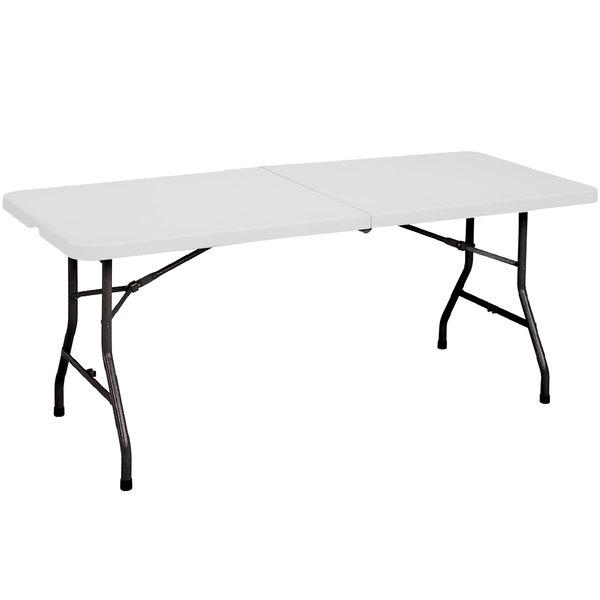 """Correll Fold in Half Table, 30"""" x 72"""" Plastic, Granite Gray - CP3072FM"""