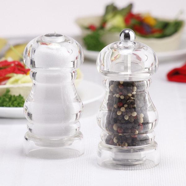 "Chef Specialties 29190 Professional Series 5"" Laurel Acrylic Pepper Mill / Salt Shaker"