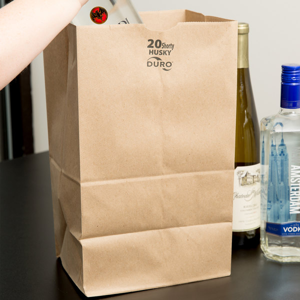 Duro Heavyweight Six Pack Brown Paper Bags - 500/Bundle