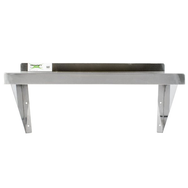 Regency Gauge Stainless Steel X Solid Wall Shelf - Stainless steel table with storage