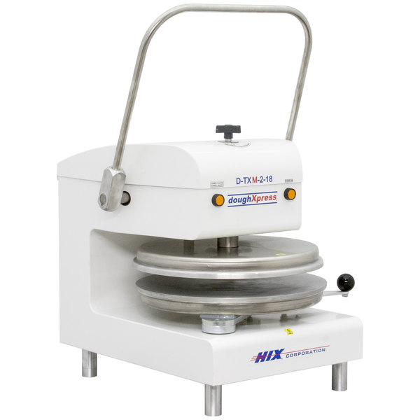"DoughXpress D-TXM-2-18-WH Dual Heat Round Manual Tortilla Press 18"" - White, 220V"