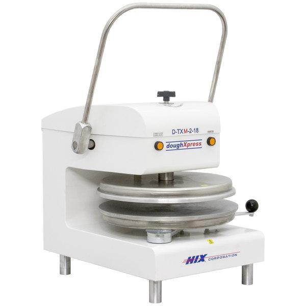 "DoughXpress D-TXM-2-18-WH Dual Heat Round Manual Tortilla Press 18"" - White, 220V Main Image 1"