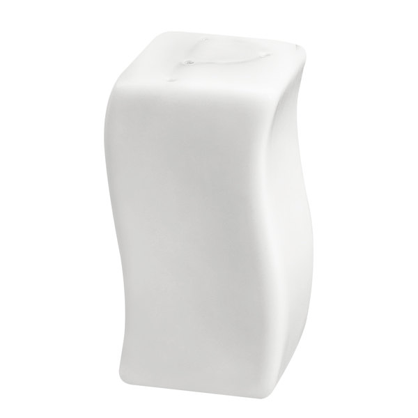 "CAC SOH-PS Soho 3"" Ivory (American White) Stoneware Pepper Shaker - 48/Case"