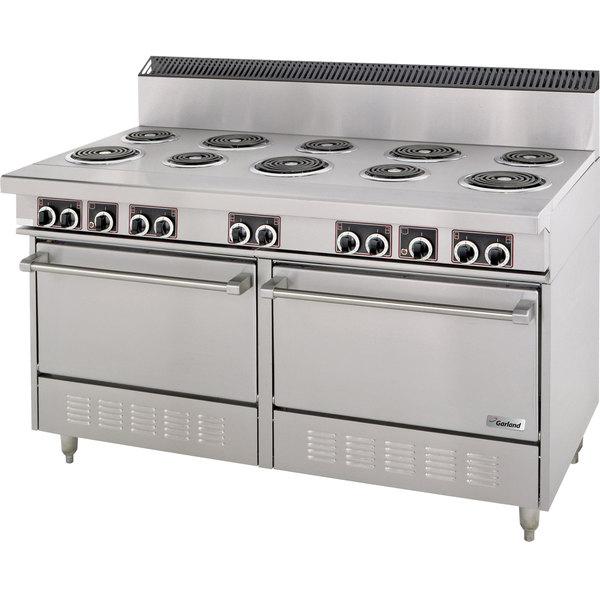 Garland S684 Sentry Series 10 Open Burner Electric Restaurant Range with 2 Standard Ovens - 240V, 3 Phase, 27 kW