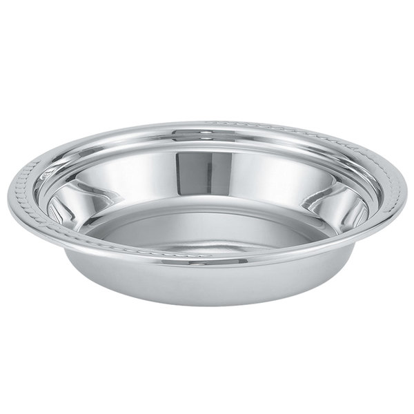 Vollrath 46504 6 Qt. Replacement Stainless Steel Food Pan for 46500 Orion Chafer