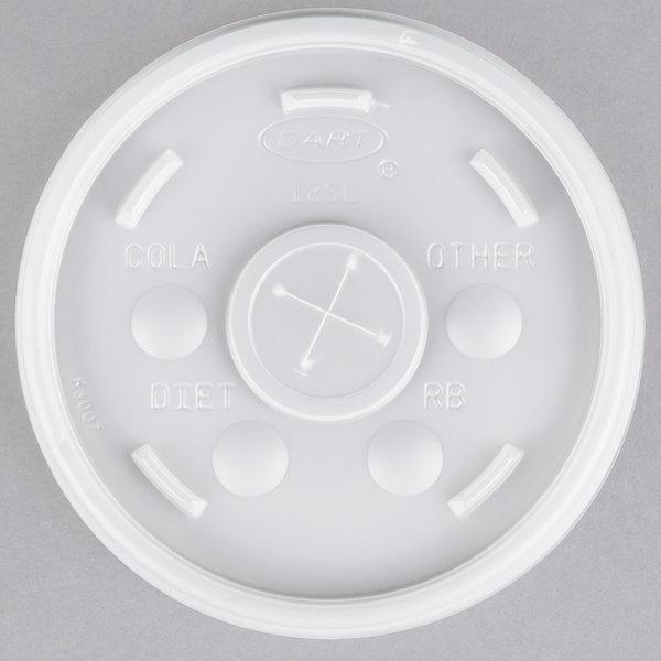 Dart 12SL Translucent Lid With Straw Slot - 100/Pack