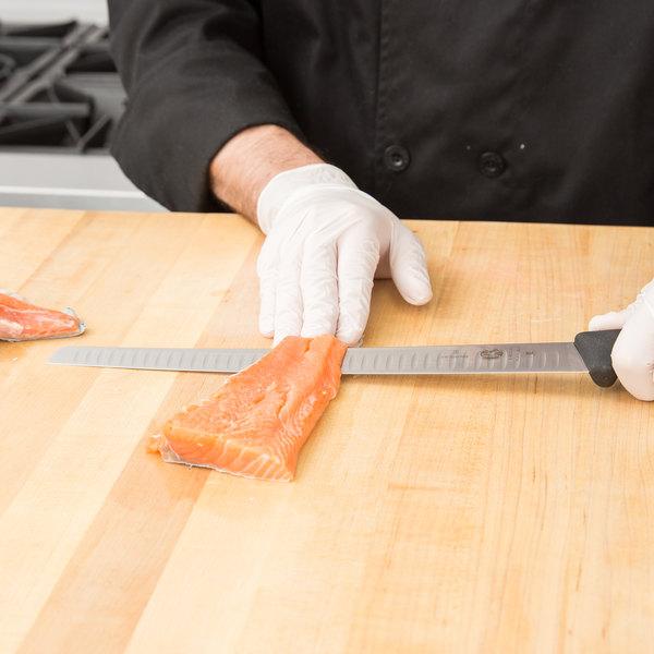 "Victorinox 5.4623.30 12"" Slicing/Salmon Knife with Granton Edge and Fibrox Handle Main Image 2"