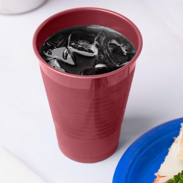 Creative Converting 28312271 12 oz. Burgundy Plastic Cup - 240/Case
