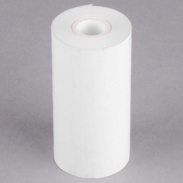 4 1/4 inch x 115' Thermal Cash Register POS Paper Roll Tape - 50/Case