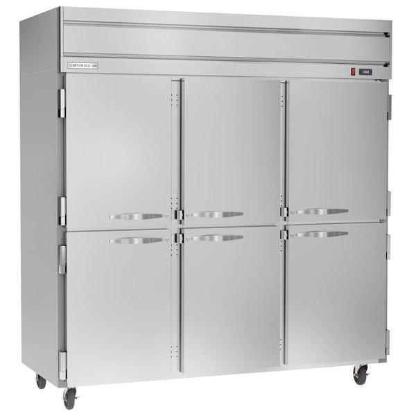 "Beverage-Air HFP3-5HS Horizon Series 78"" Solid Half Door Reach-In Freezer Main Image 1"
