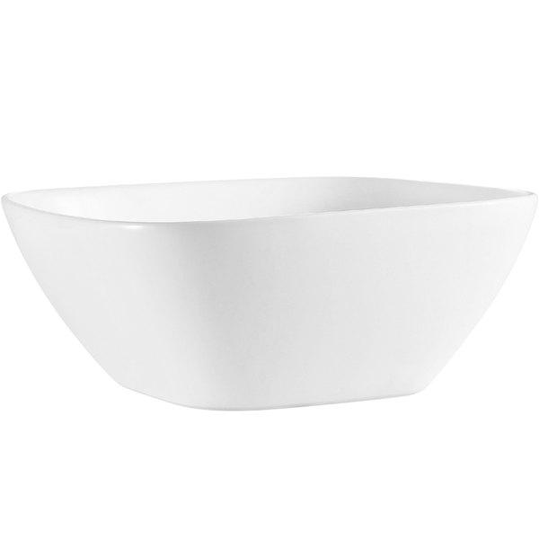 CAC MX-SQ11 2.75 Qt. Bright White Porcelain Square Bowl - 6/Case
