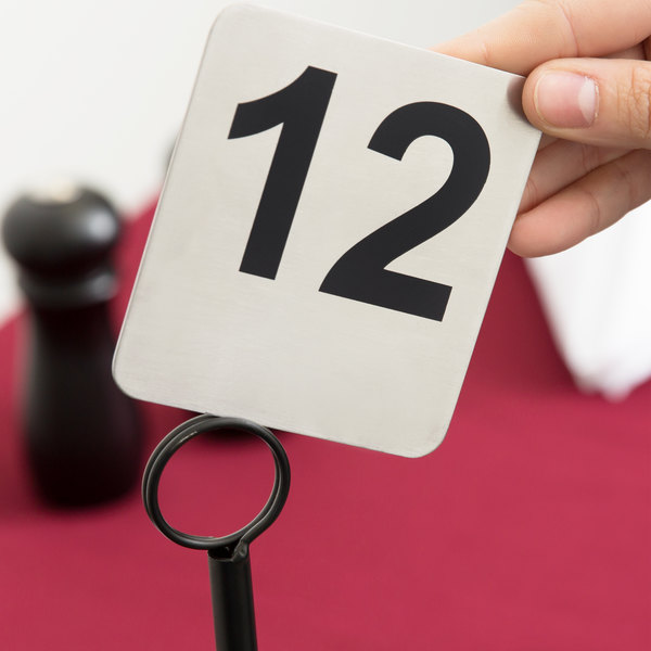 Tablecraft N To Stainless Steel Table Number - Stainless steel table numbers