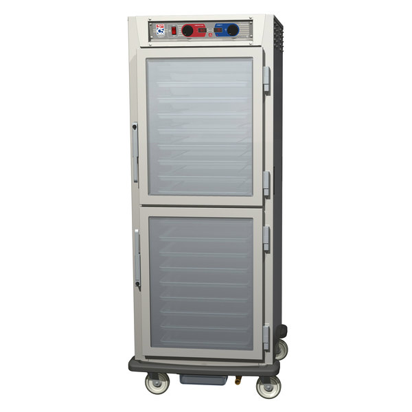 Metro C599-NDC-UPDC C5 9 Series Pass-Through Heated Holding and Proofing Cabinet - Clear Dutch Doors