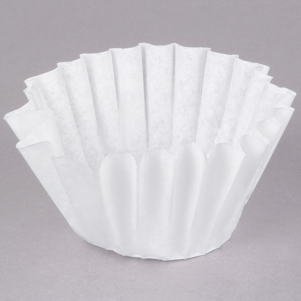 "Bunn 20116.0000 9 1/2"" x 3 1/4"" 12 Cup Narrow Decanter Style Coffee Filter - 1000/Case"