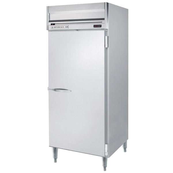"Beverage-Air HRPS1W-1S Horizon Series 35"" Solid Door All Stainless Steel Wide Reach-In Refrigerator"