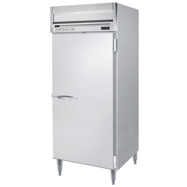 "Beverage-Air HRPS1W-1S Horizon Series 35"" Solid Door All Stainless Steel Wide Reach-In Refrigerator Main Image 1"