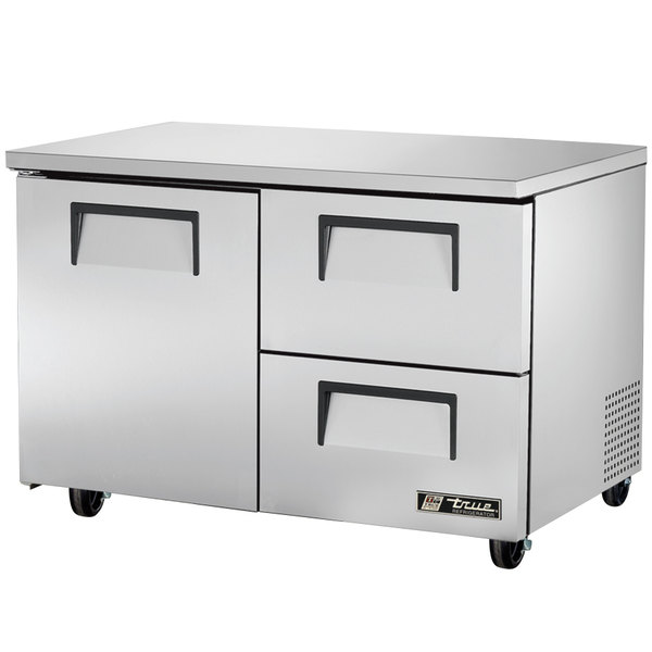 True TUC-48D-2-HC 48 inch Undercounter Refrigerator with One Door and Two Drawers