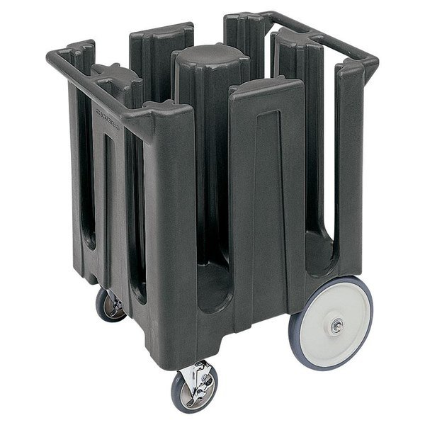 Cambro DC825191 Granite Gray Poker Chip Dish Dolly / Caddy with Vinyl Cover - 4 Column