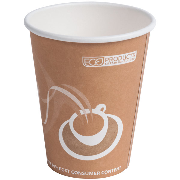 Eco Products EP-BRHC8-EW Evolution World PCF 8 oz. Paper Hot Cup - 1000/Case