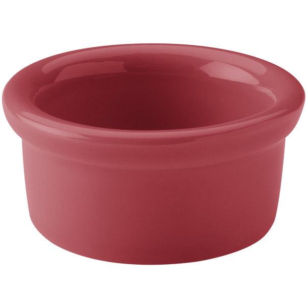 Hall China 30362326 Scarlet 2.5 oz. Colorations Round China Ramekin - 36/Case