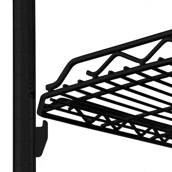 "Metro HDM1836Q-DBM qwikSLOT Drop Mat Black Matte Wire Shelf - 18"" x 36"""