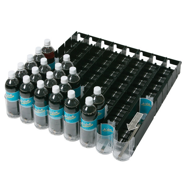 "Beverage-Air 61C31-252D-01 EcoTrac Universal Adjustable Spring-Feed Lane Organizer - 28"" - 12 Lanes for 8.4 oz. Cans"