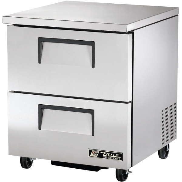 "True TUC-27F-D-2-HC 27"" Undercounter Freezer with Two Drawers"