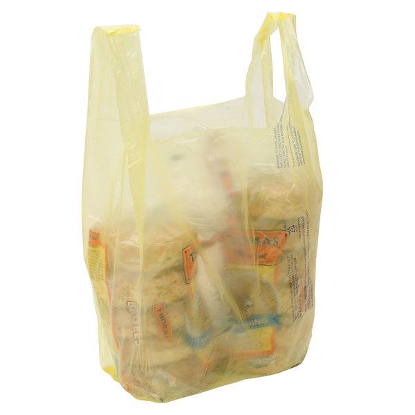 1/6 Size Yellow T-Shirt Bag - 1000/Case Main Image 4