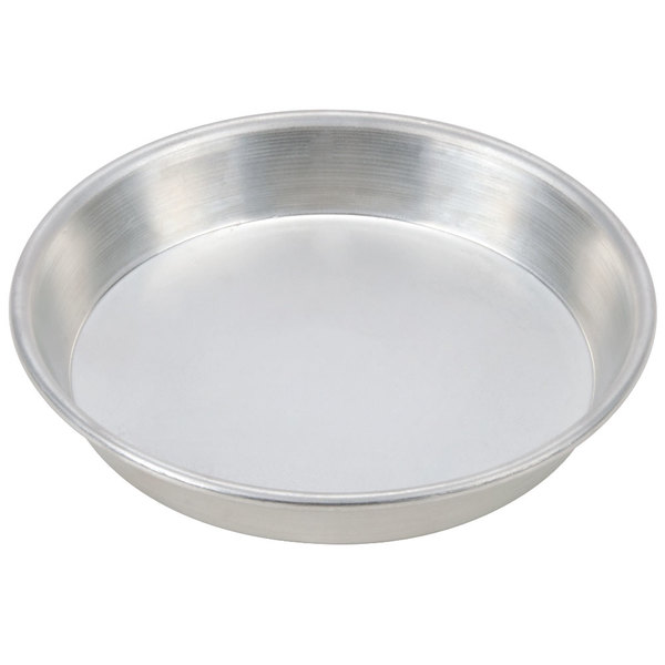 "American Metalcraft TDEP17 17"" x 1"" Tin-Plated Steel Tapered / Nesting Deep Dish Pizza Pan"