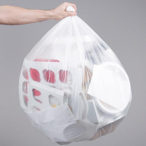 "45 Gallon 16 Micron 40"" x 48"" Olympian High Density Can Liner / Trash Bag - 250/Case"