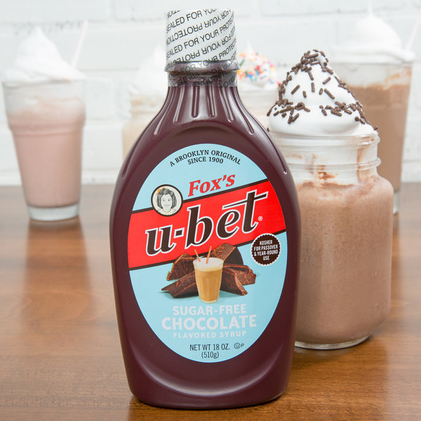 Fox's U-Bet 18 oz. Squeeze Bottle Sugar Free Chocolate Syrup