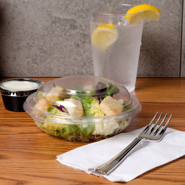 Dart C8BCD PresentaBowls 8 oz. Clear Plastic Bowl with Dome Lid - 252/Case Main Image 5