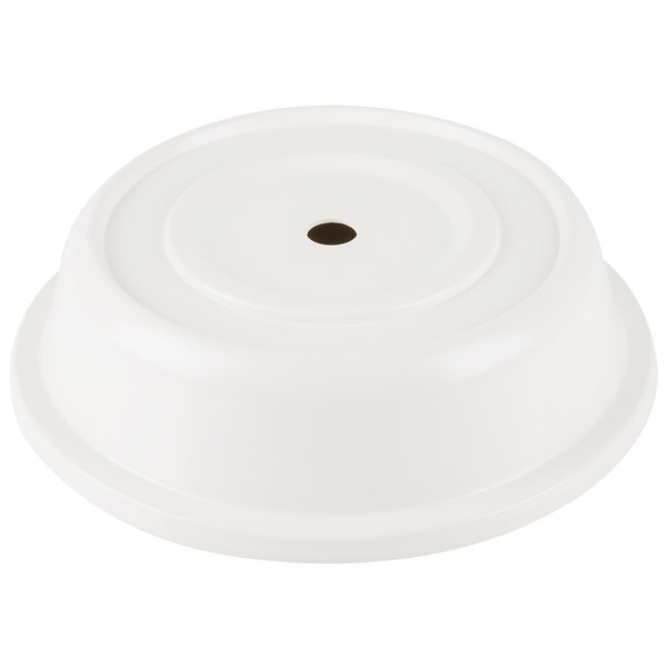 "Carlisle 91020202 8 3/4"" to 9 1/8"" Bone Polyglass Plate Cover - 12/Case"
