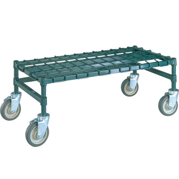 "Metro MHP55K3 48"" x 24"" x 14"" Heavy Duty Mobile Metroseal 3 Dunnage Rack with Wire Mat - 900 lb. Capacity"