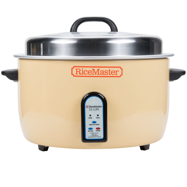 Town 57155 110 Cup (55 Cup Raw) Electronic Rice Cooker / Warmer - 208V Main Image 1