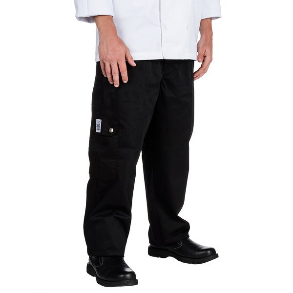 Chef Revival P024BK Size 5X Black Chef Cargo Pants - Poly-Cotton