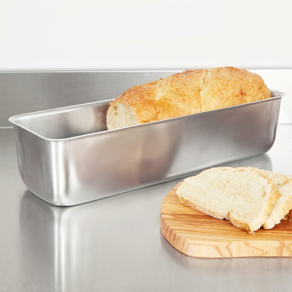 "Vollrath 5216 Wear-Ever 1.5 lb. Seamless Aluminum Bread Loaf Pan - 16"" x 4 1/2"" x 4 1/8"""