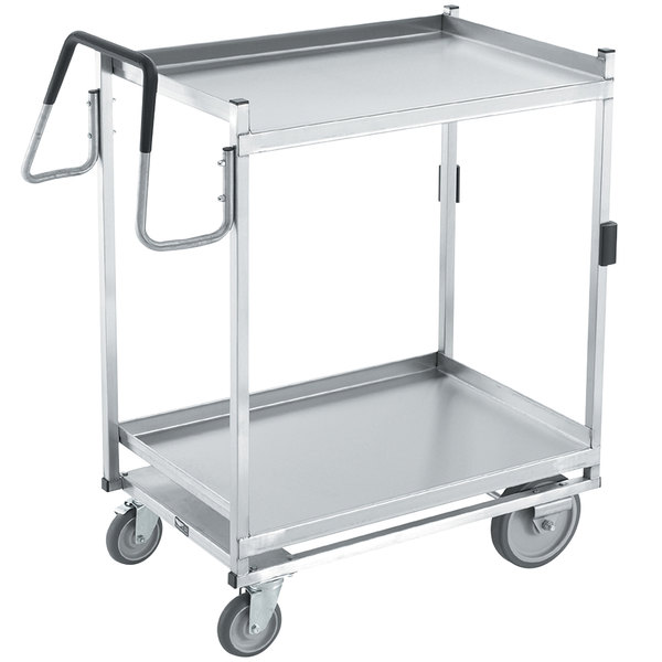 "Vollrath 97205 Heavy-Duty Stainless Steel 2 Shelf Utility Cart - 39"" x 20"" x 44 1/2"" Main Image 1"