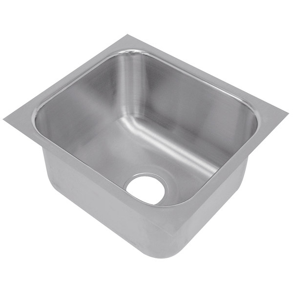 """Advance Tabco 1824A-14A 1 Compartment Undermount Sink Bowl 18"""" x 24"""" x 14"""""""