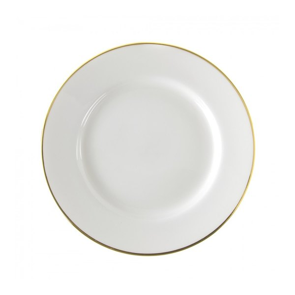 """10 Strawberry Street GL0005 6 3/4"""" Gold Line Bread and Butter Plate - 24/Case"""