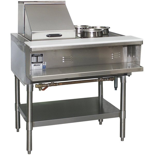 Eagle Group SHT2 Liquid Propane Steam Table Two Pan - All Stainless Steel - Open Well