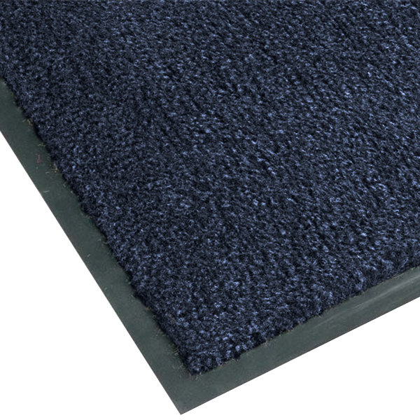 "Teknor Apex NoTrax T37 Atlantic Olefin 4468-110 3' x 4' Slate Blue Carpet Entrance Floor Mat - 3/8"" Thick"