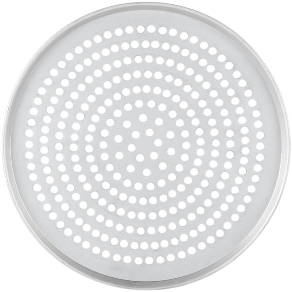"""American Metalcraft SPT2007 7"""" Super Perforated Tin-Plated Steel Pizza Pan"""