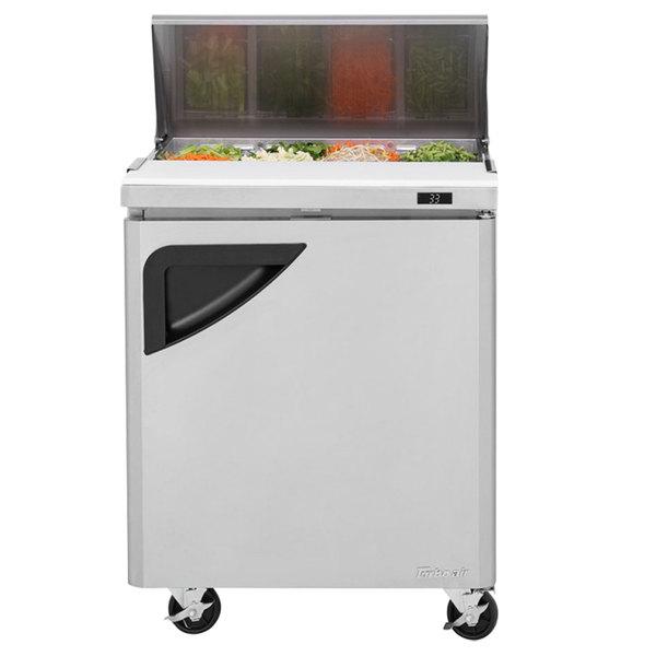 "Turbo Air TST-28SD 28"" 1 Door Refrigerated Sandwich Prep Table"